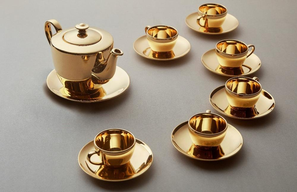 "24K Golden Teapot Set ""Longevity"""