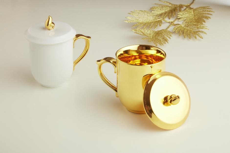 24k Golden Tea Mug Sets