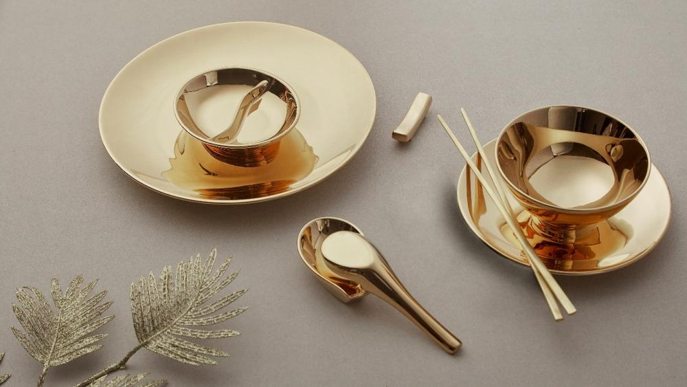 "24K Golden Tableware ""Abundance"""