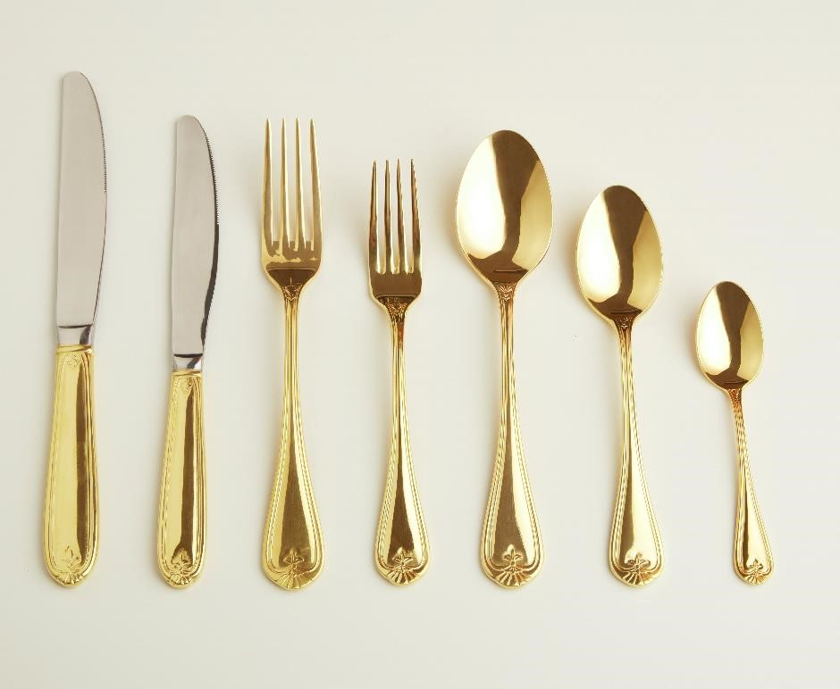 "24k Golden Cutlery set ""Prosperity"""